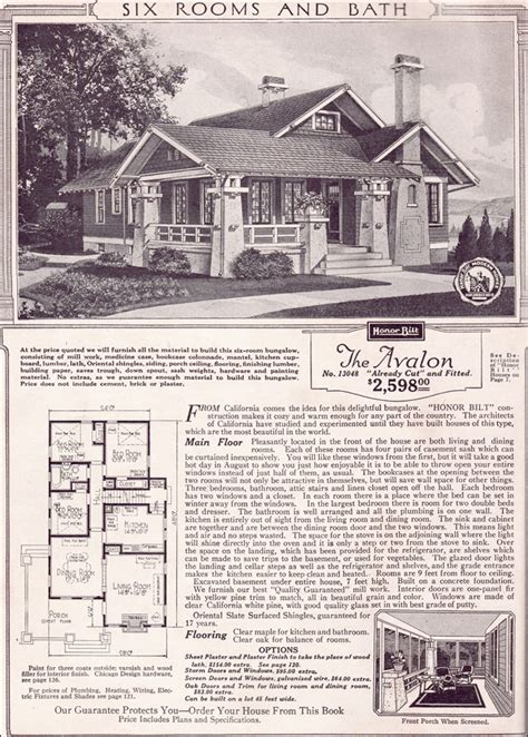avalon  sears kit houses california bungalow small craftsman home