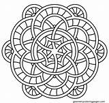Simple Mandala Coloring Mandalas Getdrawings Printable Adult sketch template