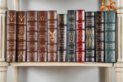 Hardcover Books For Decoration by Large Grouping Of Leather Bound Gold Leaf Hardcover Books