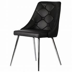 Chaise En Cuir Noir : chaise en cuir noir id es de d coration int rieure french decor ~ Teatrodelosmanantiales.com Idées de Décoration