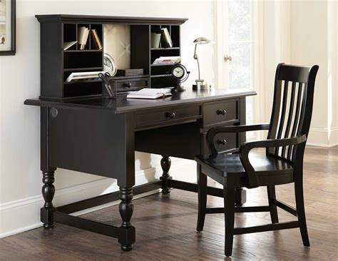 black desk with hutch buy black desk with hutch by steve silver from www