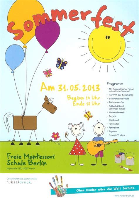 einladung zum sommerfest freie montessori schule berlin