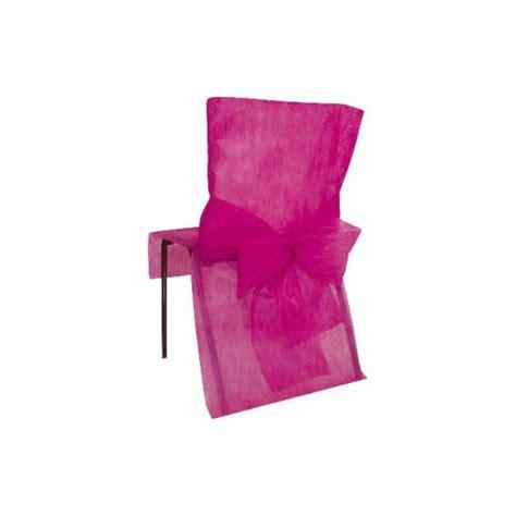 housse de chaise intisse housses de chaise intiss 233 fuschia avec noeud intiss 233 d 233 coration de salle