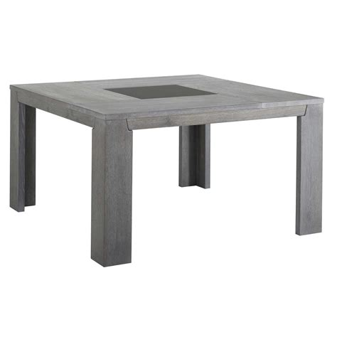 table de cuisine carree last meubles table carrée sydney gris 140cm x 77 5cm x