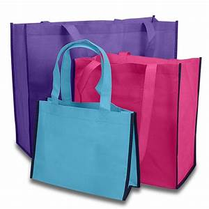 Colored Reusable Fabric Shopping Bags Paper Mart