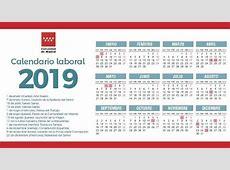 Calendario laboral de 2019 Comunidad de Madrid – Plaza