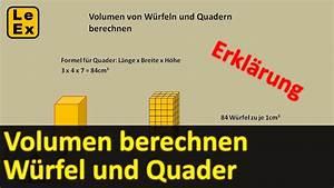 Volumen Quader Berechnen : volumen von w rfel und quader berechnen erkl rung youtube ~ Themetempest.com Abrechnung