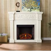 Electric Fireplace Insert And A Rich Floral Design Flows Across The Electric Fireplaces For Your Family Room Ideas Electric Fireplace Fireplace With TV Mounted Above Fireplaces Pinterest Fireplaces The Warmth And The Future In One Thing FIREPLACE DESIGN IDEAS