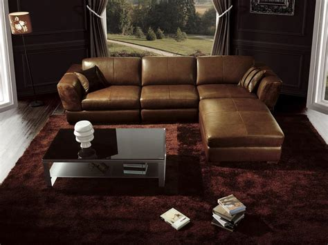 leather sofa living room ideas luxury living room interior design with glossy brown l