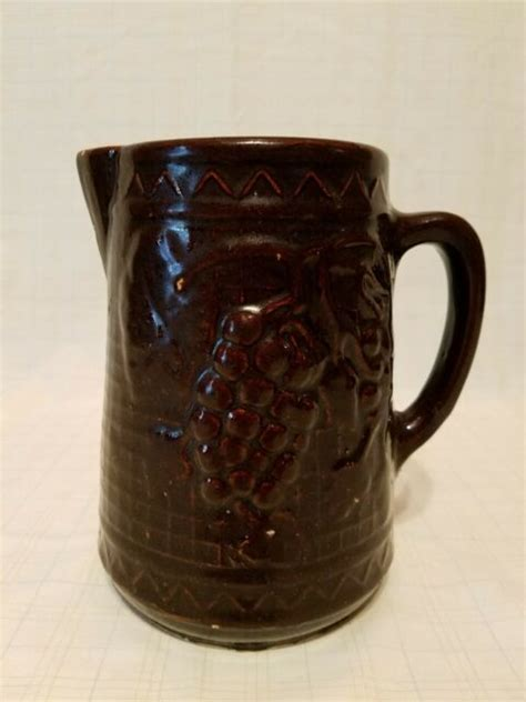Vintage Mccoy Pottery Water Pitcher Brown Final