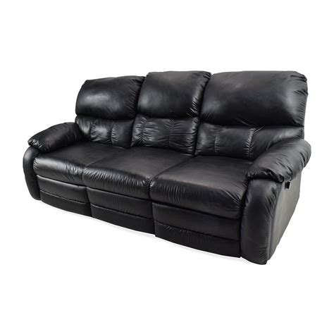Used Reclining Loveseat by 68 Black Leather Reclining Sofas