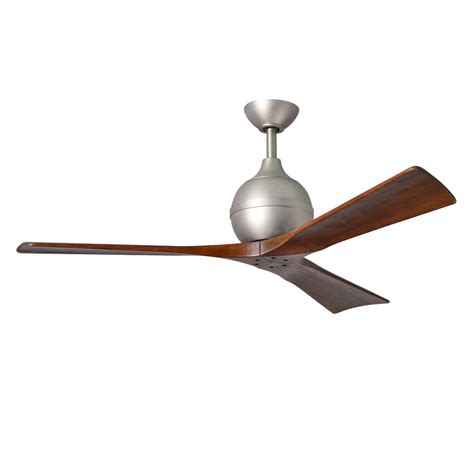 shop matthews irene 52 in brushed nickel indoor outdoor downrod mount ceiling fan and remote 3