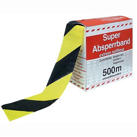 absperrband gelb schwarz absperrband gelb schwarz schraffiert flatterband in spenderbox mit abrollvorrichtung