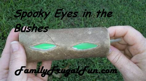 easy props to make halloween decorations to make spooky eyes in bushes family finds fun