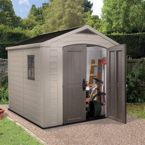 Small Sheds B Q by 8x8 Apex Plastic Shed Assembly Required Departments
