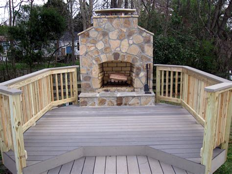 composite fireplace archadeck of decks screen porches sun rooms