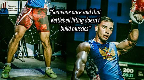 kettlebell build muscles kettlebells lifting someone once said muscle doesn cavemantraining