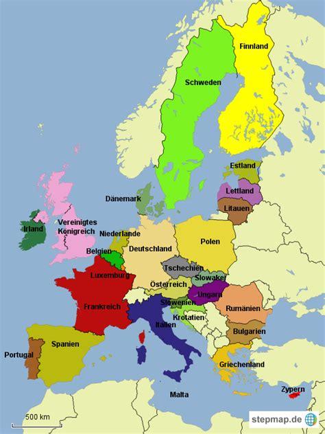 stepmap eu staaten landkarte fuer deutschland