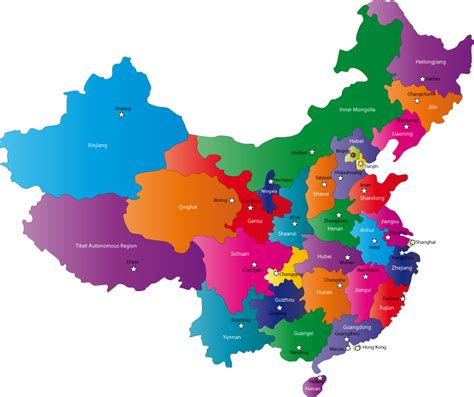 chinese provinces  capital cities map provinces  china