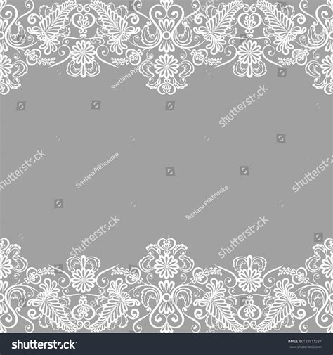 wedding invitation greeting card lace border stock vector
