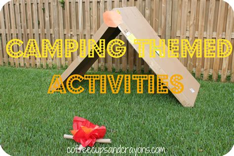 camping themed activities coffee cups and crayons 315 | camp