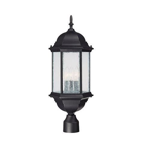 capital outdoor post light fixture black 9837bk
