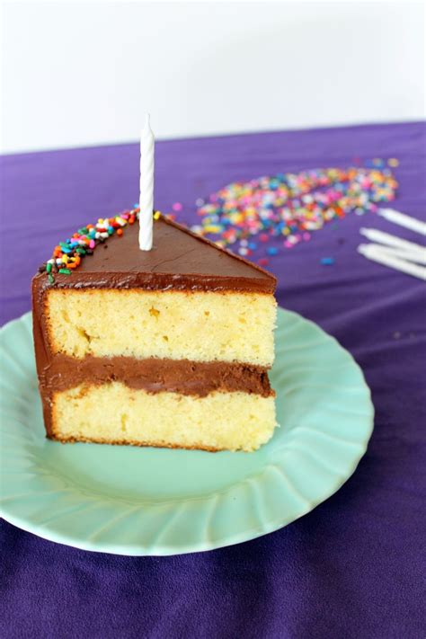yellow cake with chocolate icing yellow birthday cake with fluffy chocolate ganache frosting 1513