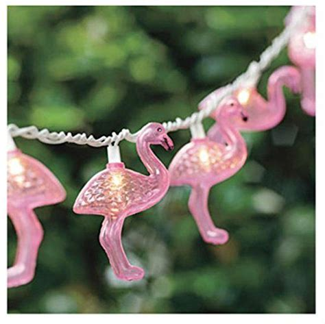 Ten Flamingos LED Battery Garland String Lights   Tutti