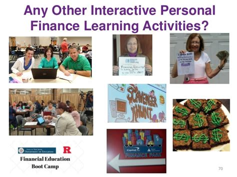 55 Interactive Personal Finance Learning Activities