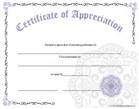 Free Printable Employee Appreciation Certificate Templates