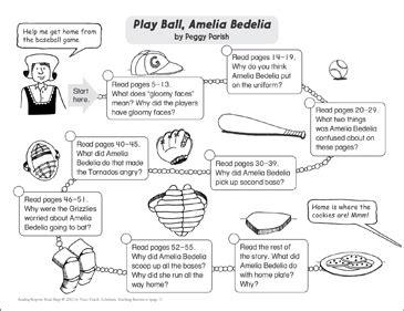 play amelia bedelia reading response map