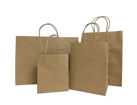 25pcs Brown Small-large Kraft Paper Bags, Shopping Handles