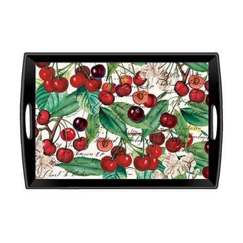 michel design works trays michel design works large wooden tray black cherry