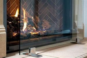 Manhattan, Modern, Free, Standing, Glass, Fireplace, Screen, Clear, Stainless, Steel, Feet, Medium, 39