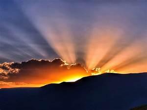 Sunset, 4k, Wallpaper, Hills, Sun, Rays, Clouds, 5k, Nature, 982