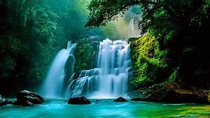 Tropical Waterfall Wallpaper and Background Image ...