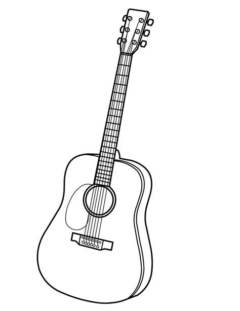 guitar coloring pages  print coloring page