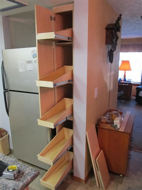 Pull Out Shelves for a Narrow Pantry   Pantry Cabinets