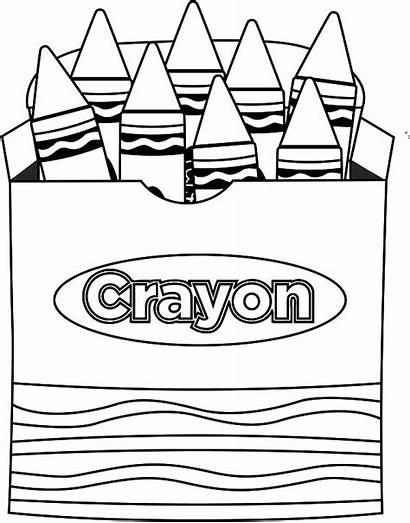 Crayons Crayon Coloring Box Pages Draw Lets