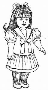 Coloring Pages American Doll Dolls Bestcoloringpagesforkids sketch template