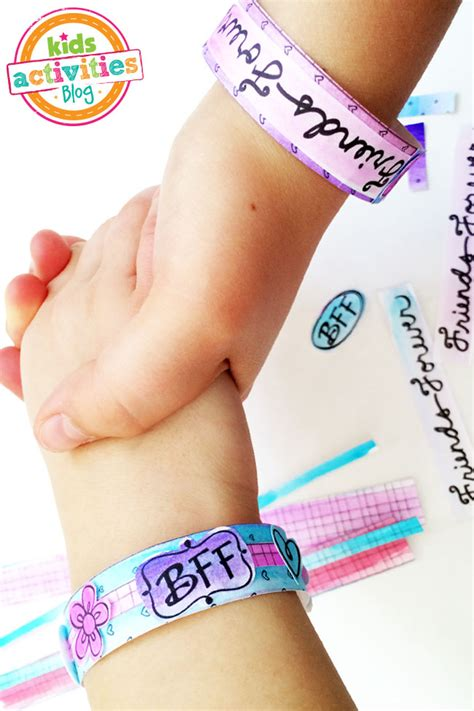 color   bff bracelets printable