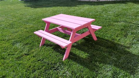white preschool picnic tables diy projects 447 | Table%2002%20 %20Finished%2004