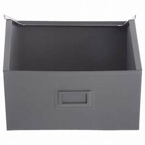 Casier De Rangement Métal : casier de rangement en m tal 32cm gris ~ Teatrodelosmanantiales.com Idées de Décoration