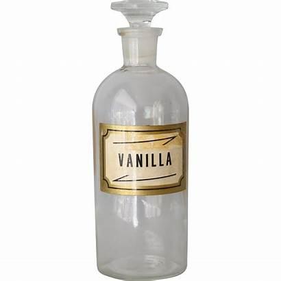 Vanilla Bottle Glass Antique Wheaton Druggist