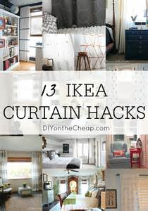 How To Make Curtain Valances by 13 Diy Ikea Curtain Hacks Window Coverings On A Budget