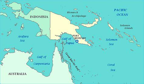 map  papua  guinea indonesia australia coral sea