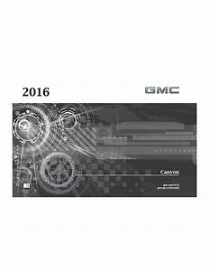 2016 Gmc Canyon Owners Manual