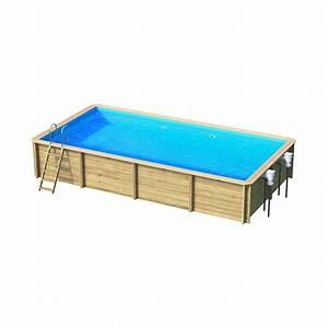 Piscine Semi Enterrée Rectangulaire : piscine bois rectangulaire hors sol semi enterr e ~ Zukunftsfamilie.com Idées de Décoration