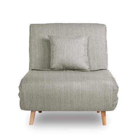 fauteuil convertible lit 1 place adron couleur gris clair achat vente fauteuil gris soldes