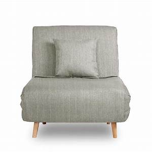 Fauteuil Convertible 1 Place : fauteuil convertible lit 1 place adron couleur gris clair achat vente fauteuil gris soldes ~ Teatrodelosmanantiales.com Idées de Décoration